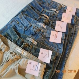 WELL WORN TO THE COMFY POINT...LEE JEANS